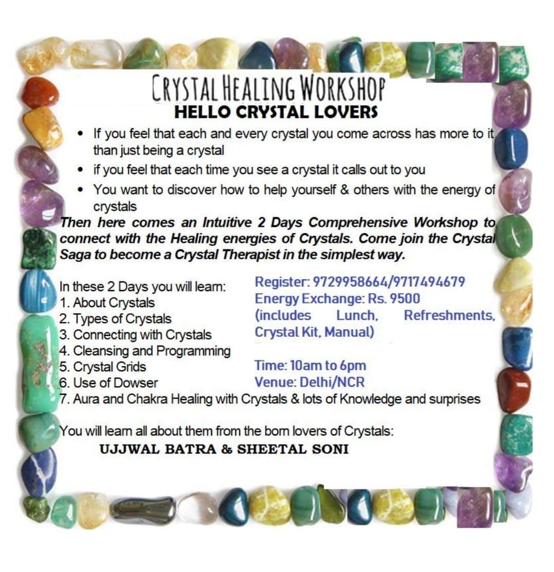 Crystal Therapist Workshop: SHEETAL SONI: Mystic Lotus: Delhi